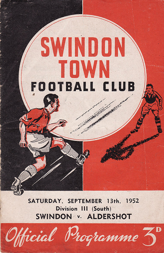Saturday, September 13, 1952 - vs. Aldershot (Home)