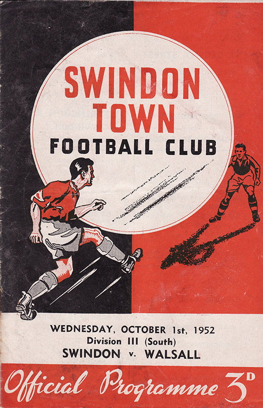 Wednesday, October 1, 1952 - vs. Walsall (Home)