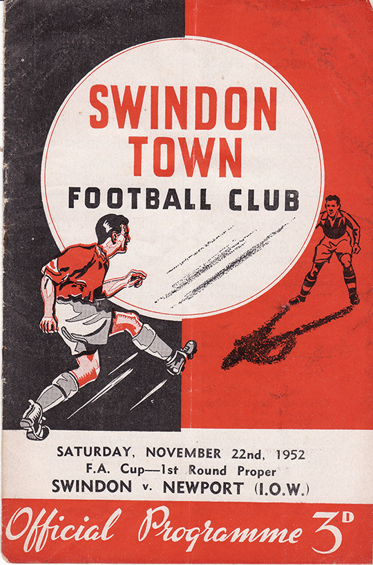 Saturday, November 22, 1952 - vs. Newport (IOW) (Home)