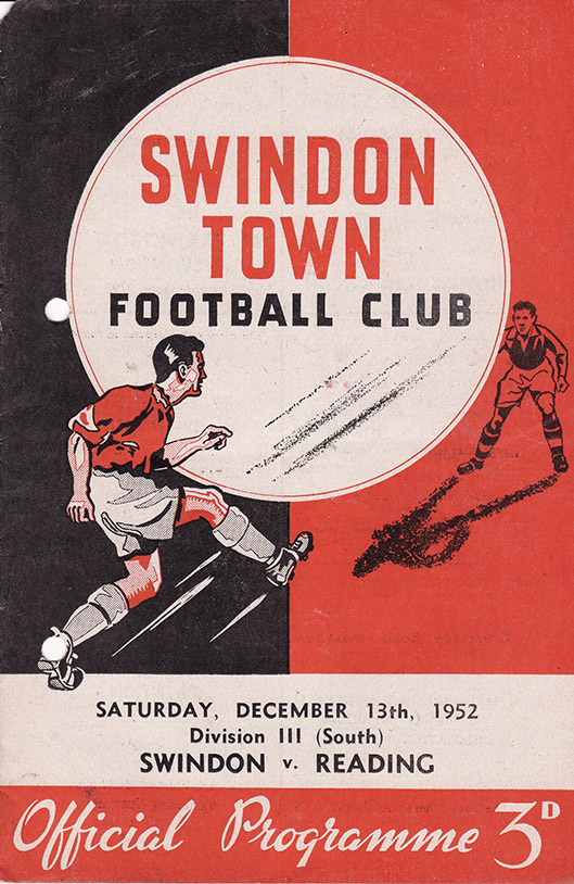 Saturday, December 13, 1952 - vs. Reading (Home)