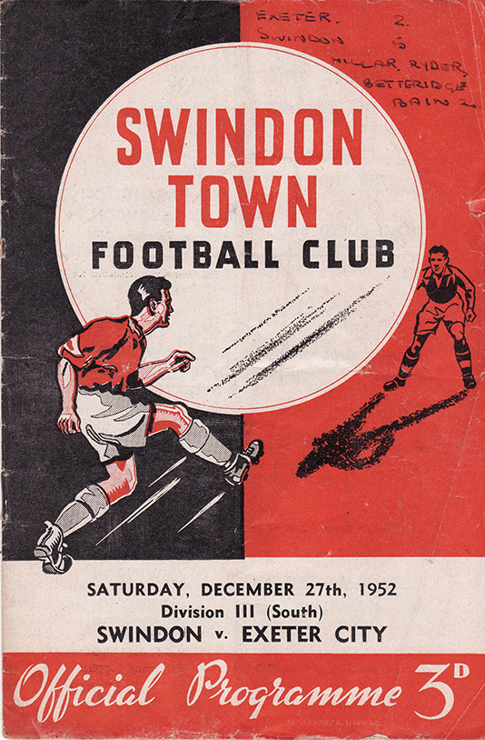 Saturday, December 27, 1952 - vs. Exeter City (Home)
