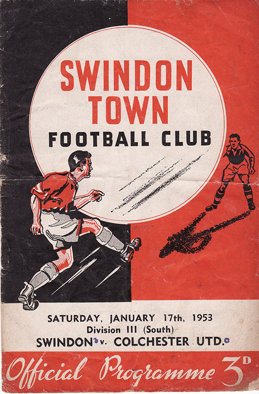 Saturday, January 17, 1953 - vs. Colchester United (Home)