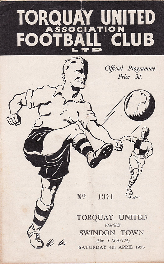 Saturday, April 4, 1953 - vs. Torquay United (Away)