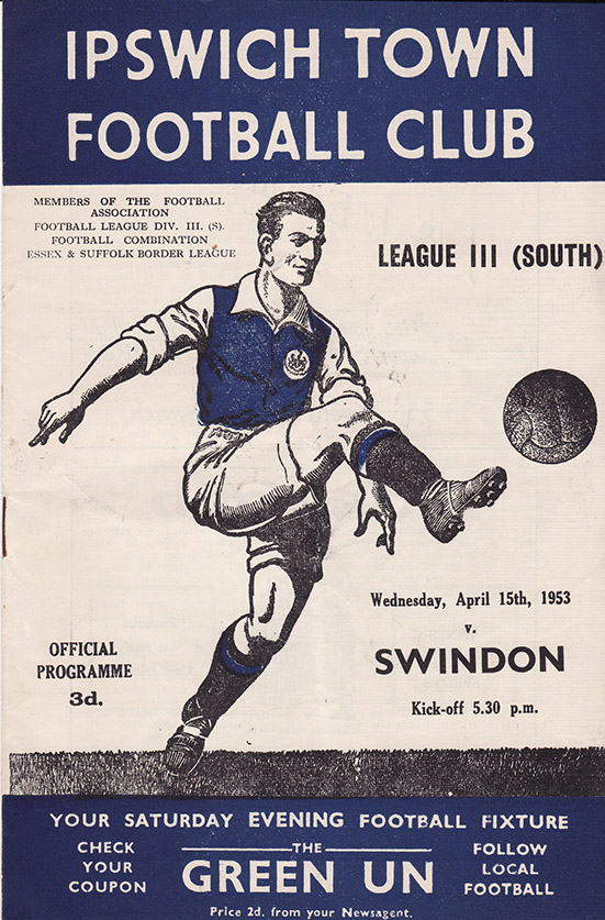 Wednesday, April 15, 1953 - vs. Ipswich Town (Away)