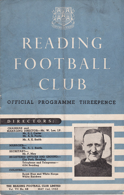 Friday, May 1, 1953 - vs. Reading (Away)