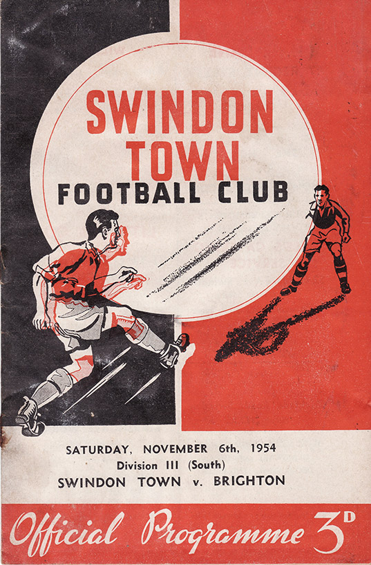 Saturday, November 6, 1954 - vs. Brighton and Hove Albion (Home)