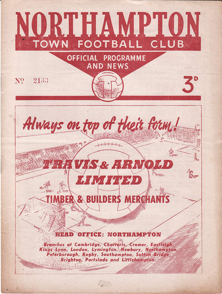Saturday, December 11, 1954 - vs. Northampton Town (Away)