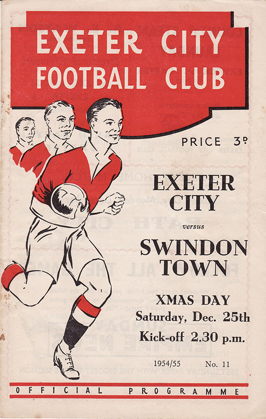Saturday, December 25, 1954 - vs. Exeter City (Away)