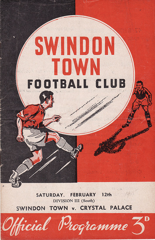 Saturday, February 12, 1955 - vs. Crystal Palace (Home)
