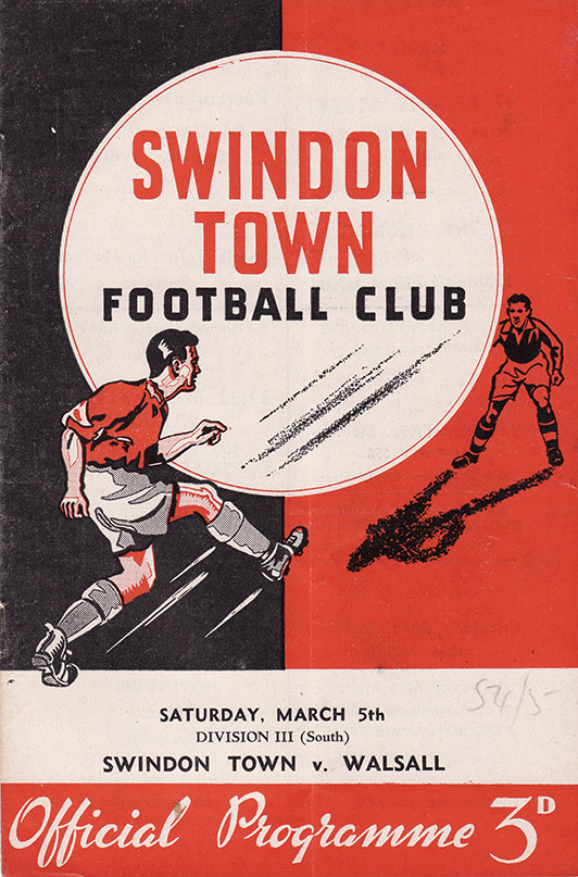 Saturday, March 5, 1955 - vs. Walsall (Home)