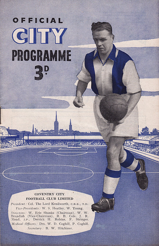 Saturday, April 9, 1955 - vs. Coventry City (Away)