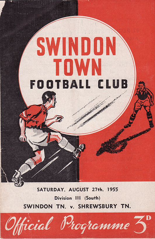 Saturday, August 27, 1955 - vs. Shrewsbury Town (Home)