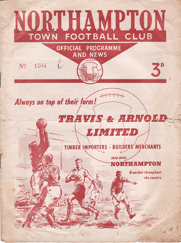 Thursday, September 1, 1955 - vs. Northampton Town (Away)
