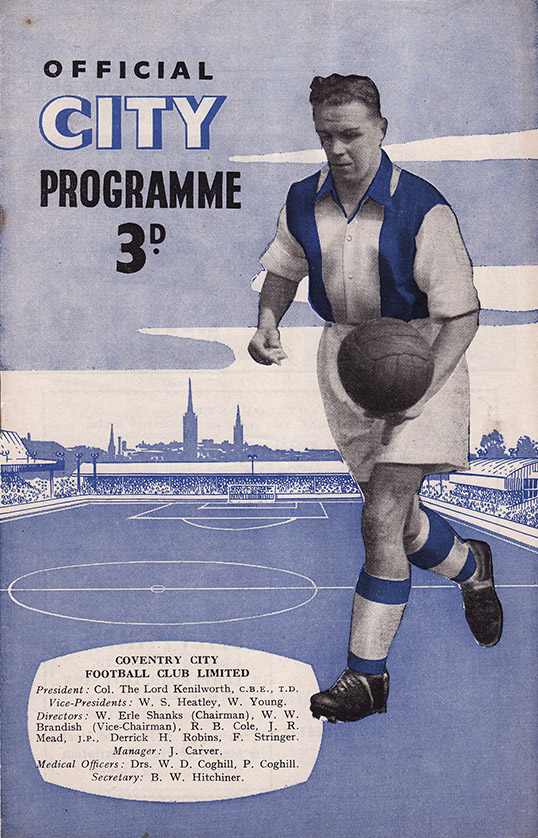 Saturday, October 1, 1955 - vs. Coventry City (Away)