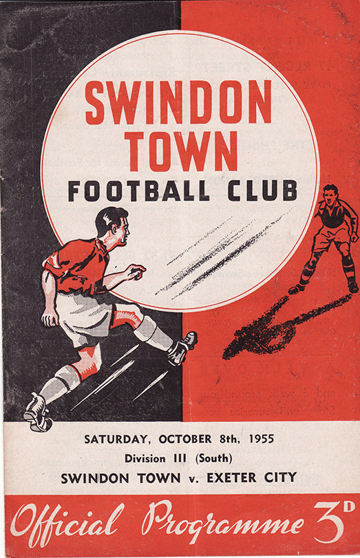 Saturday, October 8, 1955 - vs. Exeter City (Home)