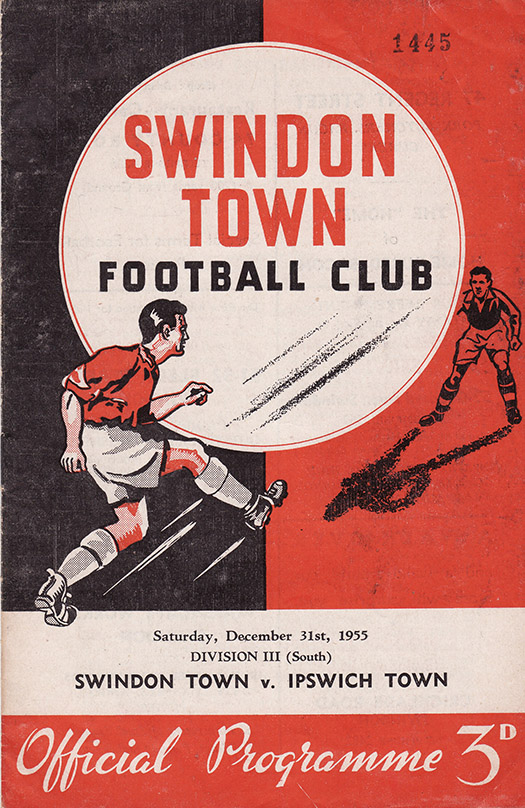 Saturday, December 31, 1955 - vs. Ipswich Town (Home)