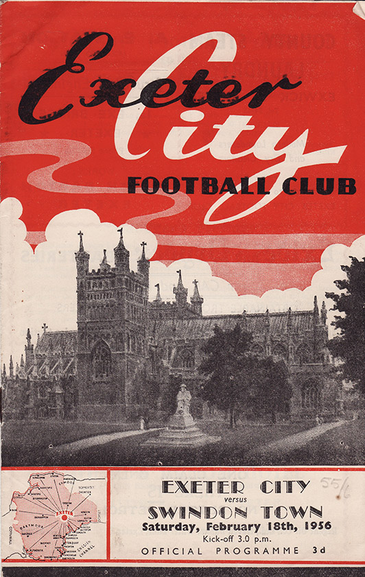 Saturday, February 18, 1956 - vs. Exeter City (Away)