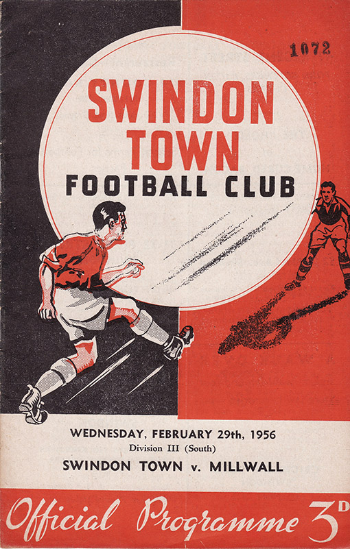 Wednesday, February 29, 1956 - vs. Millwall (Home)