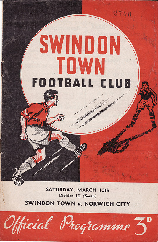 Saturday, March 10, 1956 - vs. Norwich City (Home)