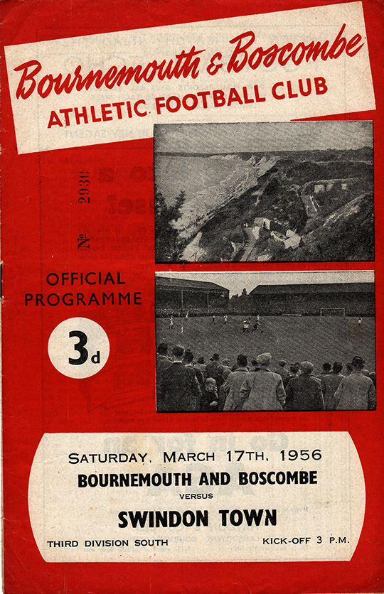 Saturday, March 17, 1956 - vs. Bournemouth and Boscombe Athletic (Away)