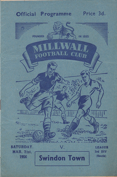 Saturday, March 31, 1956 - vs. Millwall (Away)