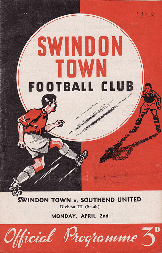 Monday, April 2, 1956 - vs. Southend United (Home)