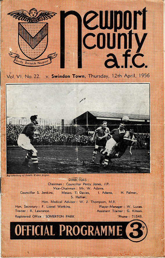 Thursday, April 12, 1956 - vs. Newport County (Away)