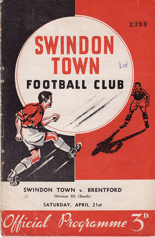 Saturday, April 21, 1956 - vs. Brentford (Home)