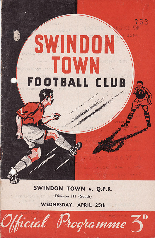 Wednesday, April 25, 1956 - vs. Queens Park Rangers (Home)