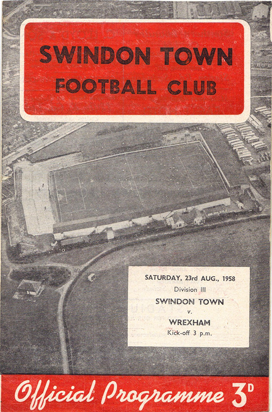 <b>Saturday, August 23, 1958</b><br />vs. Wrexham (Home)
