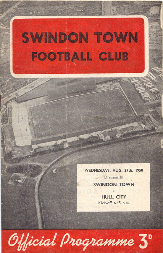<b>Wednesday, August 27, 1958</b><br />vs. Hull City (Home)