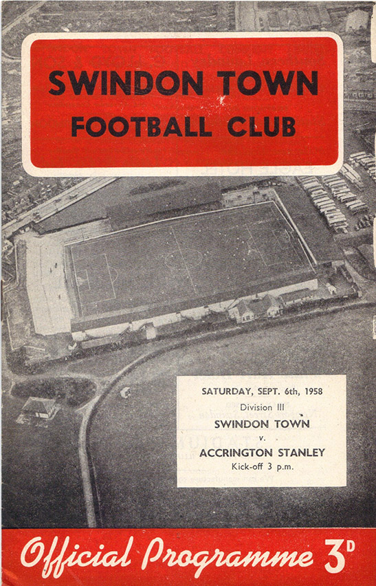 <b>Saturday, September 6, 1958</b><br />vs. Accrington Stanley (Home)