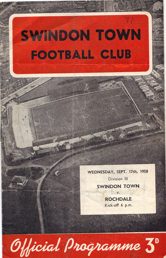 <b>Wednesday, September 17, 1958</b><br />vs. Rochdale (Home)
