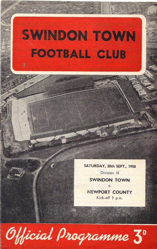 <b>Saturday, September 20, 1958</b><br />vs. Newport County (Home)