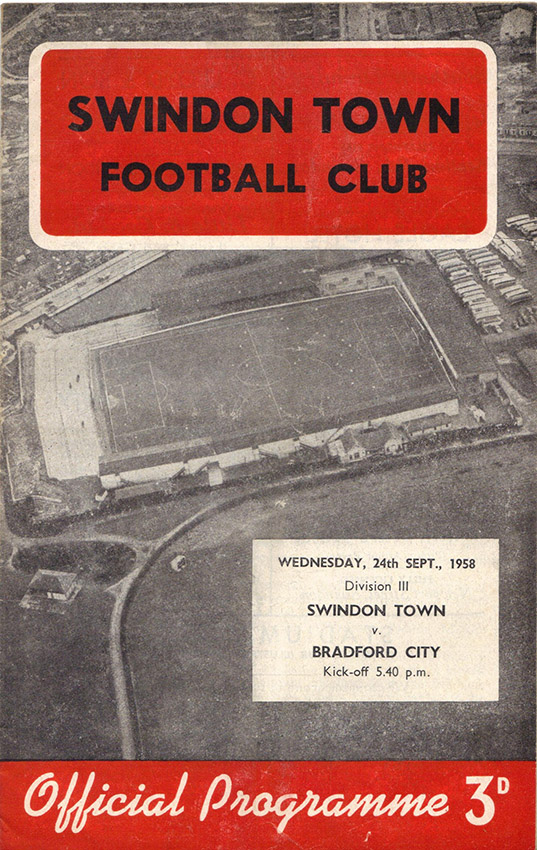 <b>Wednesday, September 24, 1958</b><br />vs. Bradford City (Home)