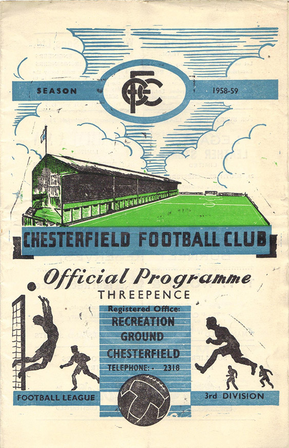 <b>Saturday, September 27, 1958</b><br />vs. Chesterfield (Away)