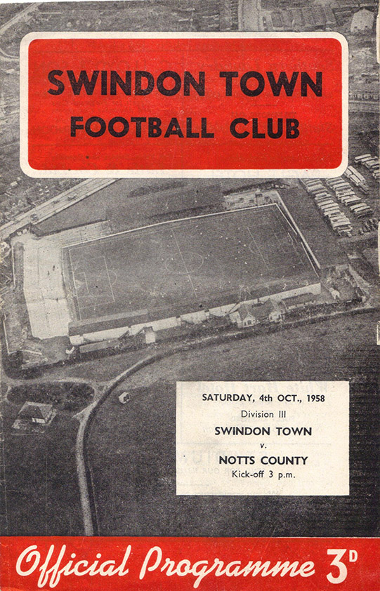 <b>Saturday, October 4, 1958</b><br />vs. Notts County (Home)