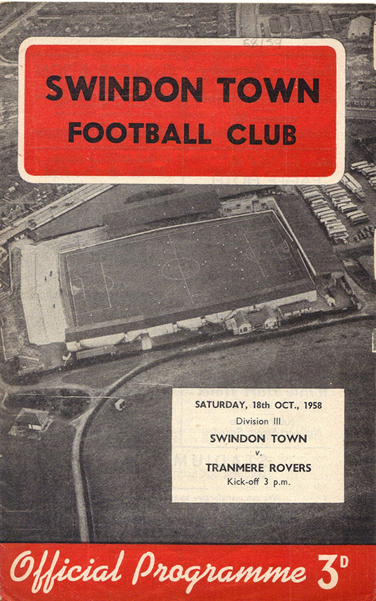 <b>Saturday, October 18, 1958</b><br />vs. Tranmere Rovers (Home)