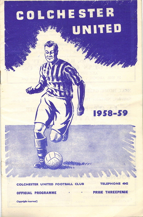 <b>Saturday, November 8, 1958</b><br />vs. Colchester United (Away)