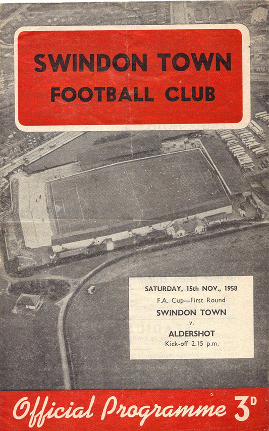 <b>Saturday, November 15, 1958</b><br />vs. Aldershot (Home)