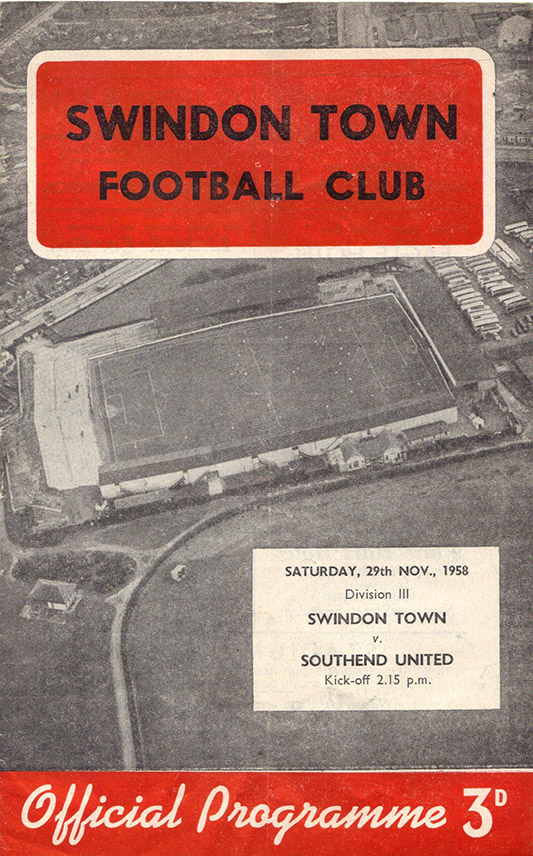 <b>Saturday, November 29, 1958</b><br />vs. Southend United (Home)
