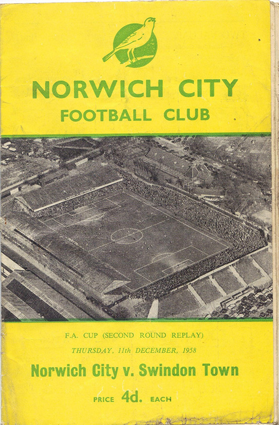 <b>Thursday, December 11, 1958</b><br />vs. Norwich City (Away)