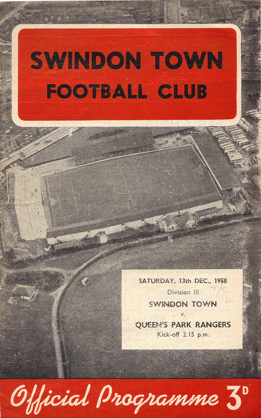<b>Saturday, December 13, 1958</b><br />vs. Queens Park Rangers (Home)