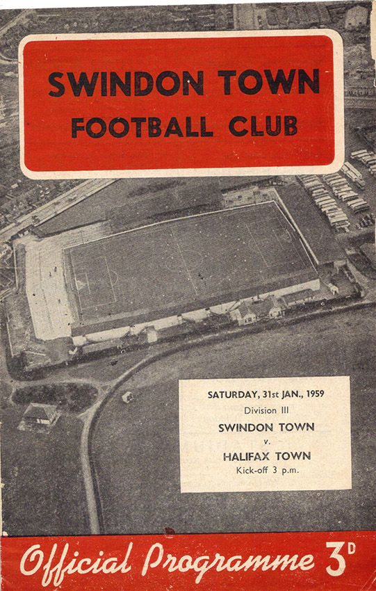<b>Saturday, January 31, 1959</b><br />vs. Halifax Town (Home)