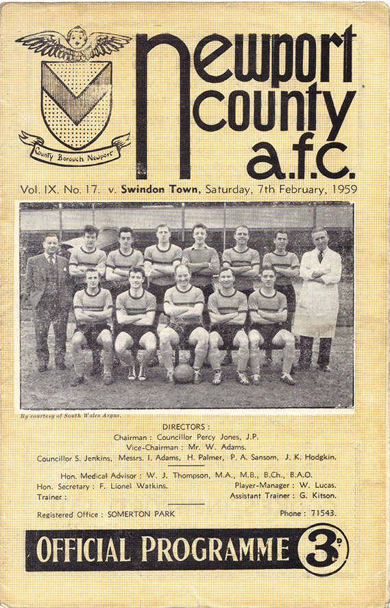 <b>Saturday, February 7, 1959</b><br />vs. Newport County (Away)