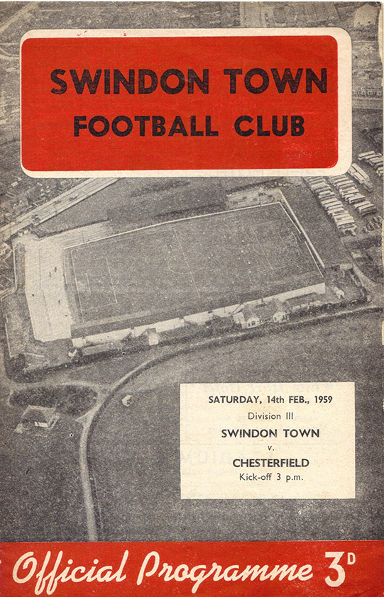 <b>Saturday, February 14, 1959</b><br />vs. Chesterfield (Home)