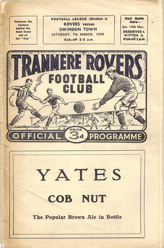 <b>Saturday, March 7, 1959</b><br />vs. Tranmere Rovers (Away)