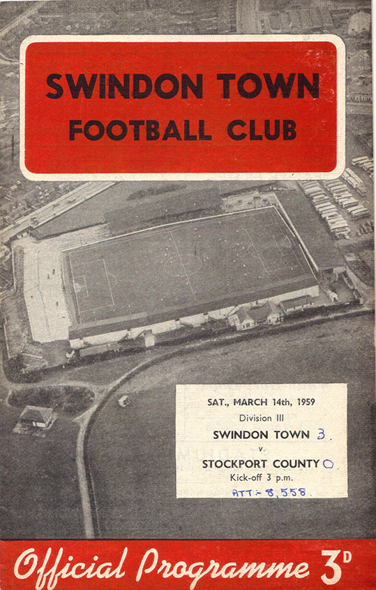 <b>Saturday, March 14, 1959</b><br />vs. Stockport County (Home)