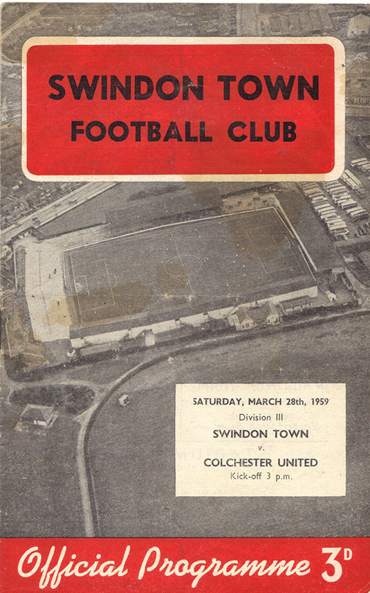 <b>Saturday, March 28, 1959</b><br />vs. Colchester United (Home)