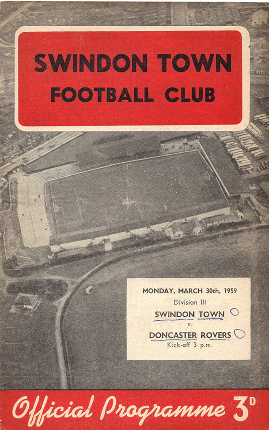 <b>Monday, March 30, 1959</b><br />vs. Doncaster Rovers (Home)